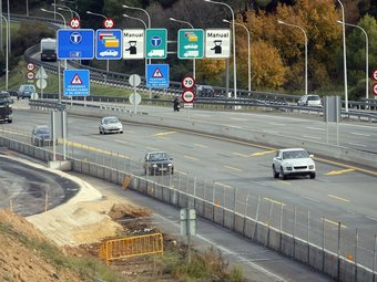 La fluïda operació tornada al peatge de l'autopista A-7 Martorell, ahir al migdia JUANMA RAMOS