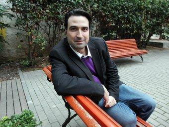 Jordi Finestres, a la redacció d'El 9 Esportiu de Barcelona. ANDREU PUIG