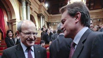 José Montilla i Artur Mas, dijous passat quan es va constituir el nou Parlament ROBERT RAMOS / ARXIU