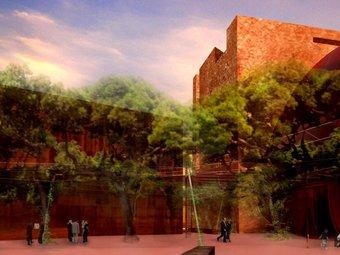 Perspectiva de l'entrada del Teatre de l'Arxipèlag, segons el projecte de Jean Nouvel.