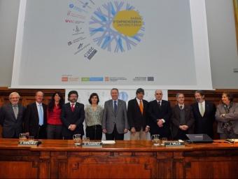 Representants de les nou universitats, de la Generalitat i de la Càtedra d'Emprenedoria de la UB.