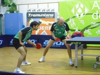 Kumar i Piella, en un partit de dobles. /  EL 9