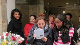Un moment d'una lectura a Santa Coloma. S. GODALL