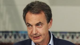 El president espanyol, José Luis Rodríguez Zapatero, avui a Madrid CARLOS MADRID / EFE