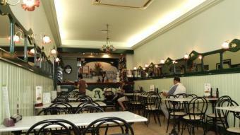 Imatge actual de l'interior de la xocolateria L'Antiga JOAN SABATER