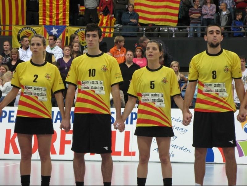 La selecció durant l'últim europeu disputat a Holanda. LLUÍS SIMÓN