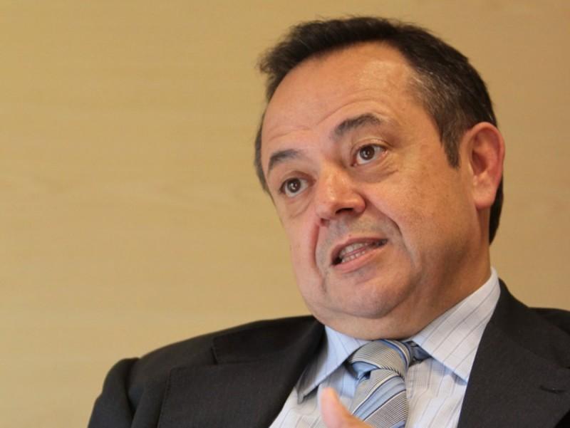 Josep Ramon Sanromà, president de l'ICF, durant l'entrevista  Foto:ALBERT SALAMÉ