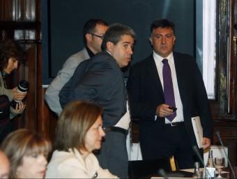 Constitució de la comissió sobre el pacte fiscal, el 3 de juny de 2011.  Foto:O. DURAN