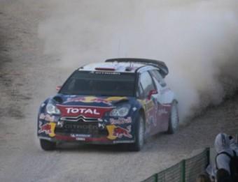 Sébastien Loeb en un tram del ral·li de Catalunya , l'any passat Foto:JOSÉ CARLOS LEÓN