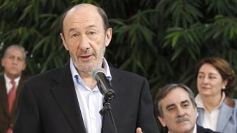 Alfredo Pérez Rubalcaba en la presentació dels candidats de la llista per Madrid Foto:EFE