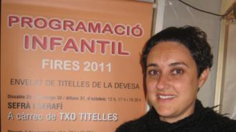 Meritxell Llanes, coordinadora de l'envelat de titelles.