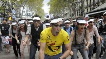Acció al carrer d''Operetta' a Barcelona, fa dos anys. JOSEP LOSADA