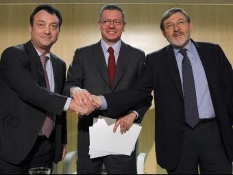 Cobo, Gallardón i Lissavetzky. EFE