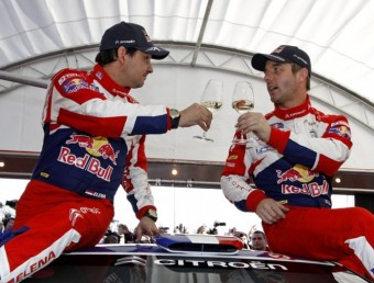 Sébastien Loeb i Daniel Elena celebren el seu sisè triomf en el Ral·li de Montecarlo. CITROËN RACING