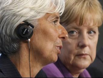 Christine Lagarde (FMI) exemplifica les veus crítiques amb la gestió de Merkel a Europa.  ARXIU