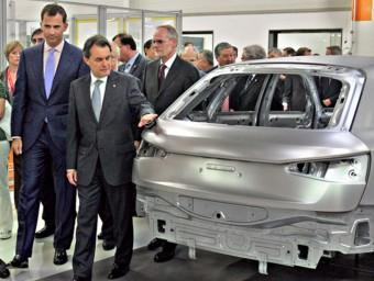 Inauguració de la fabricació a Martorell del model Q3 d'Audi, empresa amb seu a Baviera.  Foto:JUANMA RAMOS