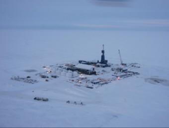 Vista aèria d'una explotació de gas natural no convencional a l'estat d'Alaska, als EUA  Foto:ARXIU