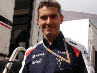 Pujolar al Circuit de Catalunya , després del triomf de Maldonado Foto:JOSEP CASANOVAS