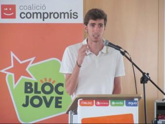Carles Morant en un instant del seu parlament final al congrés dels joves. CEDIDA