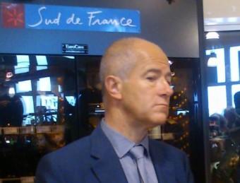 Christian Bourquin en un acte de la marca Sud de France que el president del Llenguadoc-Rosselló promou pel productes nord-catalans A.R
