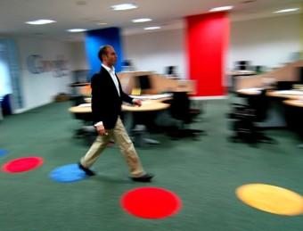 Bernardo Hernández, el director mundial de productes emergents, a la seu de Google.  ARXIU