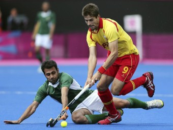 Pol Amat, en el partit contra el Pakistan EFE