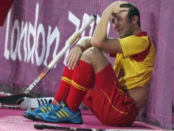 Roc Oliva, abatut després de l'eliminació del conjunt espanyol JUAN CARLOS HIDALGO/EFE
