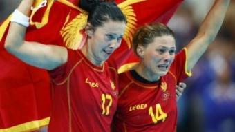 Jugadores de Montenegro celebren el subcampionat olímpic EL 9