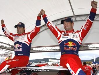 Loeb i Elena celebren el 74è triomf en WRC allà mateix on deu anys abans havien aconseguit el primer Foto:CITROËN RACING
