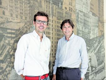Carlos Puigjaner i Antonio Terradas, de Verbio.  FRANCESC MUÑOZ