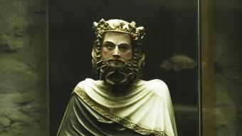 Imatge de Sant Carlemany, que en realitat és un criptoretrat de Pere III el Cerimoniós, obra de Jaume Cascalls, escultor del gòtic català LLUÍS SERRAT