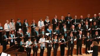 El concert del Cor Maragall a la sala simfònica Montsalvatge de l'Auditori de Girona. Manel Lladó