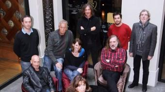 Els cantants que han intervingut en el debat sobre cultura al Presència, dins la sèrie Diàlegs a l'España ANDREU PUIG