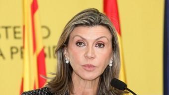 La delegada del govern espanyol a Catalunya, María de los Llanos de Luna, en un acte a Girona el 2012 JOAN SABATER