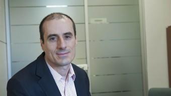 MARc llovera.  EL DIRECTOR DE SICOOP, A LA SEU BARCELONINA D'AQUESTA ENTITAT