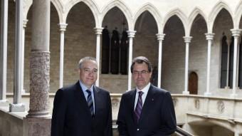 Navarro i Mas, en una trobada la primavera passada O.D