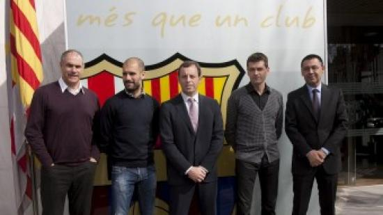 Els homes de la transició: Zubi, Guardiola, Rosell, Vilanova i Bartomeu Foto:EL9