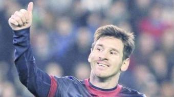 Messi somriu en celebrar un gol. Un gest que s'ha repetit 91 vegades al llarg de l'any 2012. EFE