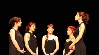 Les Síxters, The Swingle Singers i Vocal Sampling (D'ESQUERRA A DRETA I DE DALT A BAIX) ACTUARAN AL FESTIVAL ARXIU