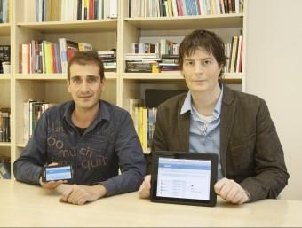 Eduard Pujol i Ramon Besora, els dos emprenedors que han creat Docpopuli.  SAGI SERRA