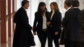 Alícia Sánchez-Camacho i Maria Victoria Àlvarez, juntes, ahir al jutjat JUANMA RAMOS