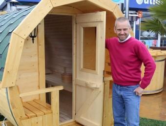 Una de les saunes que Welltech 94 comercialitza tant de venda com de lloguer a empreses i particulars.  Foto:QUIM PUIG