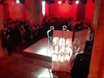 Imatge de la darrera trobada de First Tuesday a l'antiga fpabrica Moritz de Barcelona.  FT