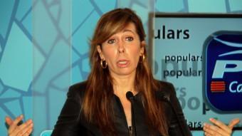 La presidenta del PP de Catalunya, Alícia Sánchez-Camacho, en una imatge del passat dilluns ACN