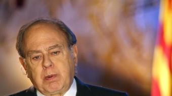 El president lòngeve.  JORDI PUJOL EL 2002 ADREÇANT-SE ALS CATALANS DURANT EL TRADICIONAL DISCURS DE CAP D'ANY. EFE