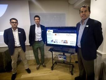 """Els impulsors del gimnàs on line """"ictiva"""", el dia de la seva presentació, a Barcelona  ALBERT SALAMÉ"""