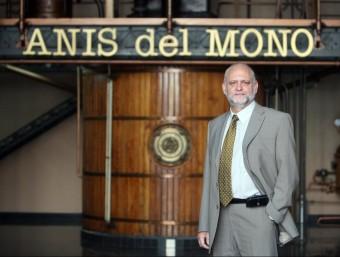 Antonio Guillén fa catorze anys que és al capdavant d'Anís del Mono, una marca propietat del grup Osborne des de 1975.  Foto:O. DURAN