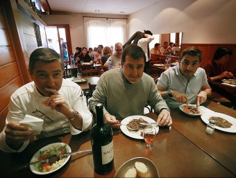 Els germans Roca, propietaris del Celler Can Roca de Girona.  ARXIU /MANEL LLADÓ