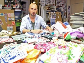Sergi López ocupa la gerència de l'empresa tèxtil des del gener d'aquest any.  JUANMA RAMOS