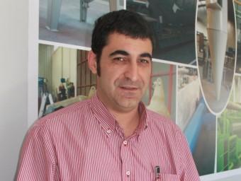 Josep Maria Subirada, a les oficines de l'empresa a Balaguer.  D.M